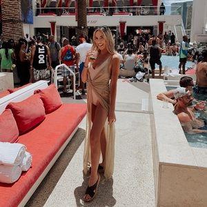 Forever 21 Dresses - Golden Grecian Cover Up